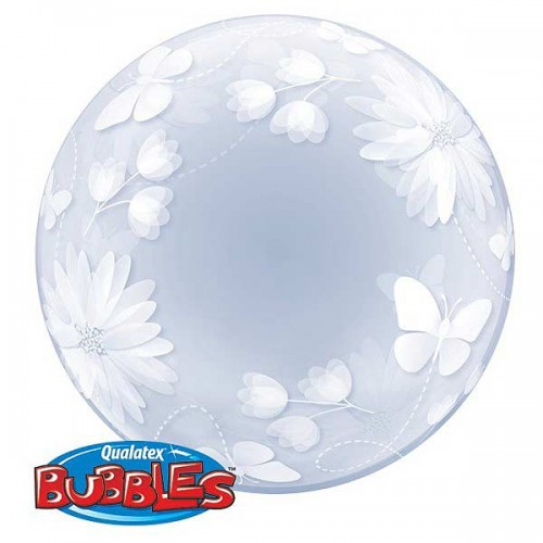 "Butterflies & Flowers 20"" Deco Bubble"