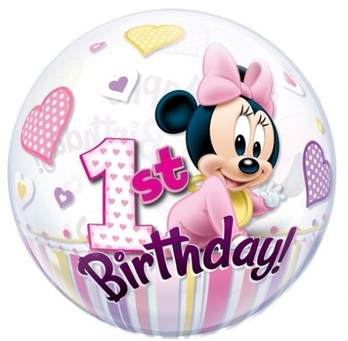Minnie Mouse - First Birthday Bubble