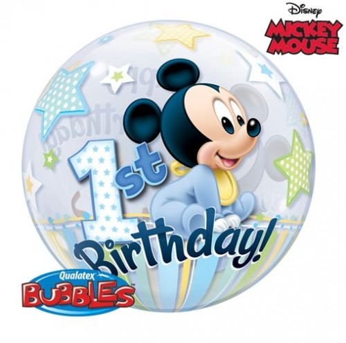 Mickey Mouse - First Birthday Bubble