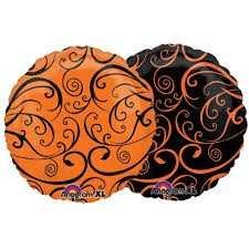 "Black and Amber (Flat) - 18"" foil balloon"