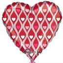 "Hearty Hearts (Flat) - 18"" foil balloon"
