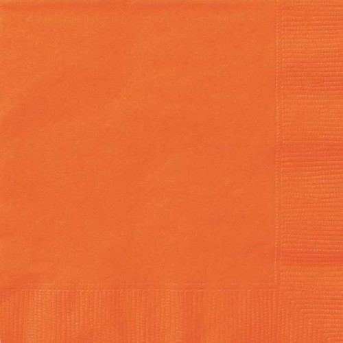 Pumpkin Orange Luncheon Napkins 20 CT.