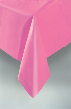 "Hot Pink Plastic Tablecover 54""x108"""