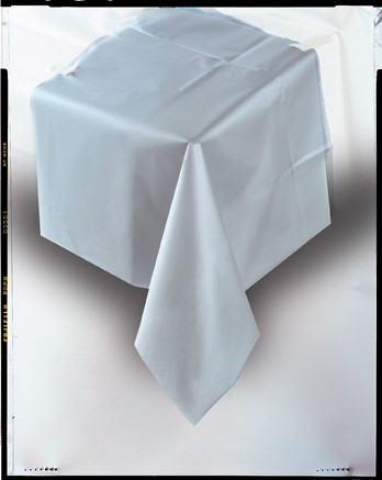 """Silver Plastic Tablecover 54""""x108"""""""