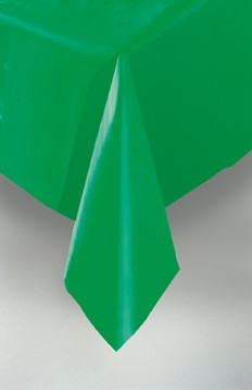 "Emerald Green Plastic Tablecovers 54""x108"""