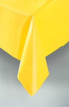 """Sunflower Yellow Plastic Tablecovers 54""""x108"""""""