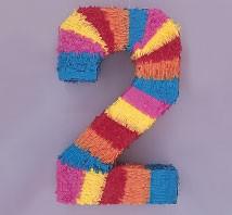 Numeral 2 Piñata