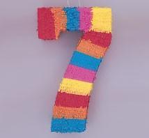 Numeral 7 Piñata