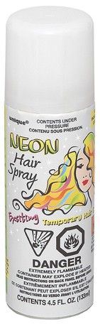 Neon Hair Spray White