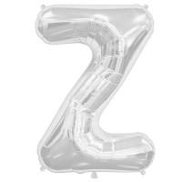 """Silver Letter Z Shape 34"""" Foil Balloon"""