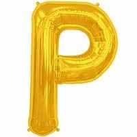 "Gold Letter P Shape 34"" Foil Balloon"