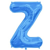 "Blue Letter Z Shape 34"" Foil Balloon"