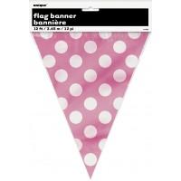 Hot Pink. Dots Flag Banner