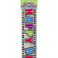 Happy Birthday Colours - Prismatic Banner 12Ft.