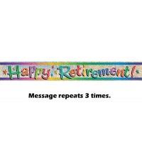 Happy Retirement Prismatic Banner 12ft.