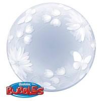 "Butterflies & Flowers 20"" Deco Bubble"
