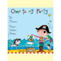 Pirate Party Invitations 8ct