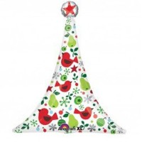 "Christmas Supershape 35"" x 30"" Foil Balloon"