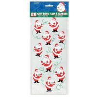 Twinkle Santa Cello Bags 20ct