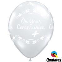 "Communion Butterflies 11"" Diamond Clear (50CT)"