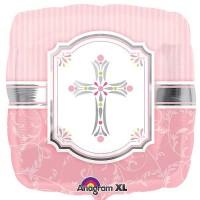 "Communion Blessings Pink - 18"" Foil Balloon"