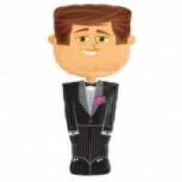 Groom Airwalker foil balloon