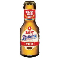 "Happy Birthday You - Beer  36"" Shape Foil Balloon"