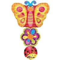 Ladybug Flower Butterfly Stacker Shape 86cm x 56cm