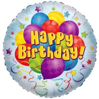 "Happy Birthday Bunches - 18"" foil balloon"