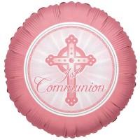 Communion Light Pink 18inch Foil Balloon