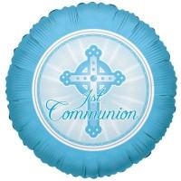 Communion Light Blue 18inch Foil Balloon