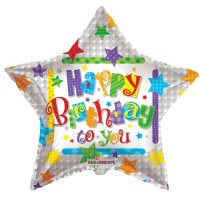 Happy Birthday Star Balloon (36inch)