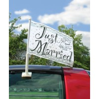 Wedding Car Flag - Just Married