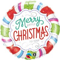 "Merry Little Christmas 18"" foil"