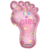 Baby Girl Footprint Shape (36inch)