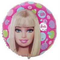 "Barbie Pattern - 9"" Air Inflation Foil Balloon"