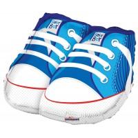 "Baby Shoes Blue Shape - 18"" foil balloon"