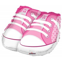 "Baby Shoes Pink Shape - 18"" foil balloon"