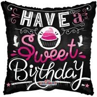 "Have a Sweet Birthday Pillow Balloon - 18"" foil balloon"