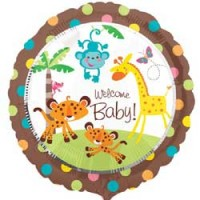 "Fisher Price - Welcome Baby - 18"" Foil Balloon"
