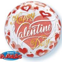"""Valentine's Red Hearts 22"""" Single Bubble"""