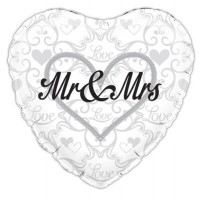 "Mr and Mrs Wedding - 18"" foil balloon"