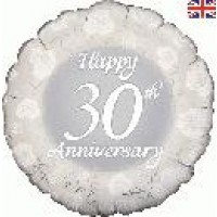 "Happy 30th Anniversary - 18"" foil balloon"