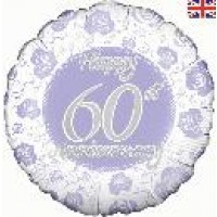 "Happy 60th Anniversary - 18"" foil balloon"