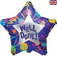 "Well Done - Star Shape - 18"" foil balloon"