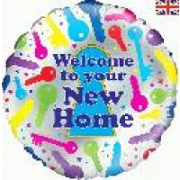 "Welcome to your New Home - 18"" foil balloon"