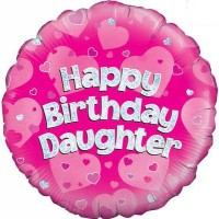 """Happy Birthday Daughter Holographic - 18"""" Foil Balloon"""