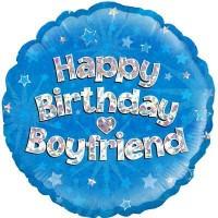 "Happy Birthday Boyfriend Holographic - 18"" Foil Balloon"