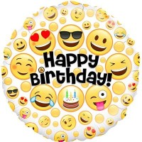 "Emoji Happy Birthday - 18"" Foil Balloon"