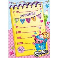 Shopkins Party Invites & Envelopes - 20ct.